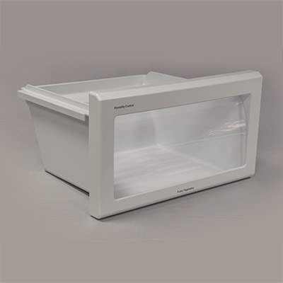 2K / Two Shot Molded Refrigerator Crisper Pan Front