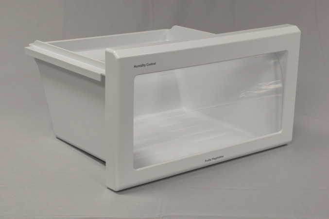 2K / Two Shot Injection Molded Refrigeration Appliance Crisper Pan